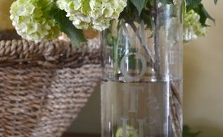 diy etched glass mother s day vase, crafts, seasonal holiday decor