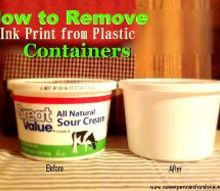 how to remove ink from plastic containers so you can reuse them, cleaning tips, repurposing upcycling