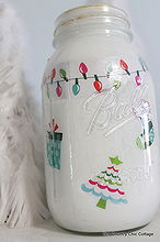 christmas mason jar, crafts, decoupage, mason jars, By applying your images and paint on the inside the character of the mason jar can still shine