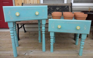 old drawers turned into planter boxes, container gardening, gardening, repurposing upcycling, We assembled them and I painted distressed and added fun knobs