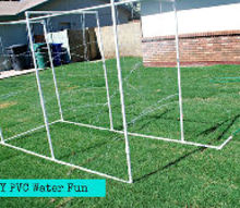 easy diy pvc water fun for the kids, outdoor living, DIY PVC Water fun