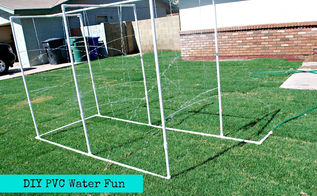 easy diy pvc water fun for the kids, outdoor living, DIY PVC Water fun