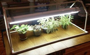 if you re thinking about starting seedlings for your garden now s the time to begin, gardening, light stand made from PVC