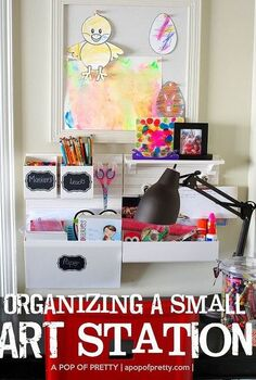 how i turned a corner of our tv room into an organized art station for our 8 yo, organizing, Martha Stewart wall manager used as an art station for kids Note This was not a sponsored post I just tried and loved it