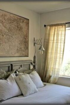 a diyers small space home tour, home decor, Decoupage Map Restoration Hardware knock off