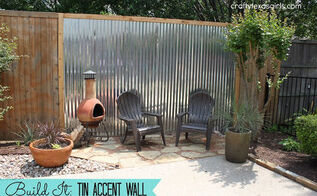 tin accent wall for the backyard, fences, outdoor living