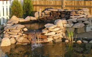 how to build pond waterfall and wall waterfalls with flagstones, diy, landscape, outdoor living, ponds water features, Water Garden Waterfall Building instructions