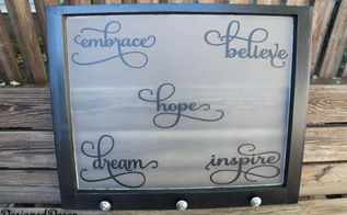 inspirational window, crafts, home decor, repurposing upcycling