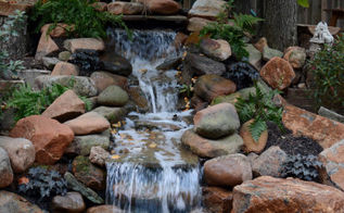 diy pondless waterfall, diy, landscape, ponds water features