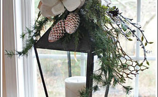 christmas candle centerpiece, christmas decorations, crafts, seasonal holiday decor, I found the pine cone ornaments at the craft store and just had to add them