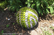 how to make gorgeous garden art globes, crafts, gardening, There are lots of design choices for garden art globes