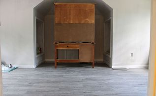 my new office craft room floors vinyl plank flooring, flooring, Vinyl plank flooring from BuildDirect in Century Oak 100 waterproof