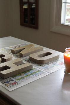nosh sign diy, crafts, NOSH sign before paper letters