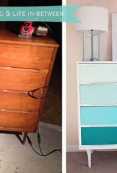 diy ombre dresser, painted furniture