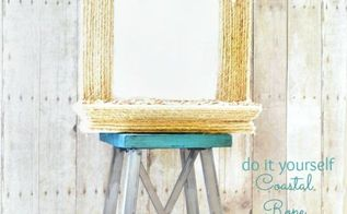 diy coastal rope mirror makeover, crafts, decoupage, All this mirror needed was a little rope and shells to turn it into a true beach beauty