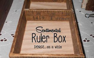vintage ruler box, crafts, repurposing upcycling