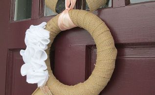diy burlap wreath, crafts, wreaths