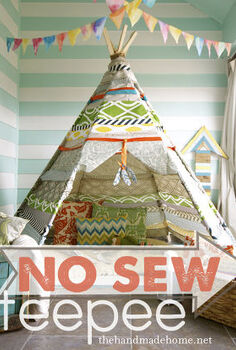 handmade no sew tee pee, outdoor living