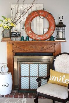 vibrant amp happy summer mantel, home decor, seasonal holiday decor, I m really thrilled with how my Summer mantel came together It s quirky and fun