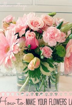 get the most out of your floral arrangements, flowers, home decor