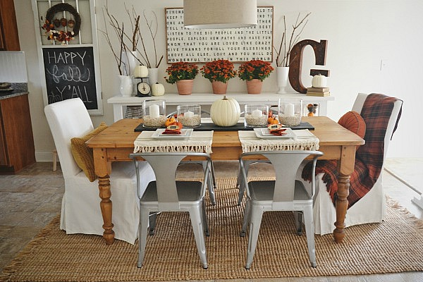 Vintage Fall Dining Room Ideas Seasonal Holiday Decor