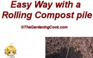 composting with a rolling compost pile, composting, gardening, go green