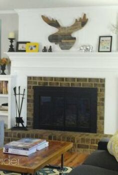 budget fireplace makeover reveal, fireplaces mantels, home decor, living room ideas, painting, Fireplace makeover After