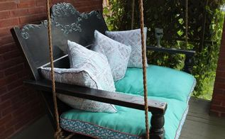 repurposed porch swing, outdoor furniture, outdoor living, painted furniture, repurposing upcycling