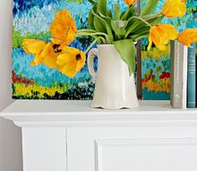 getting tired of the drab colors of winter, home decor, painting