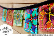how to make bohemian garden flags, crafts