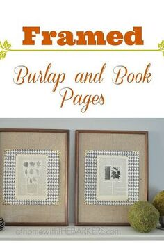 framed burlap and book pages, crafts, repurposing upcycling, seasonal holiday decor, Framed Burlap and Book Pages