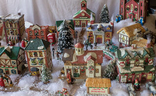 tips and tutorial for creating a beautiful christmas village, christmas decorations, crafts, seasonal holiday decor