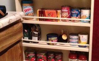 diy slide out pantry kitchen storage, closet, diy, how to, storage ideas