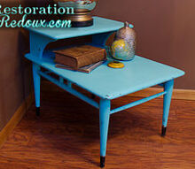 vintage turquoise sidetable, painted furniture