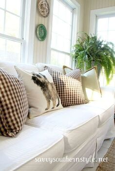 seasonal changes in sun room, home decor