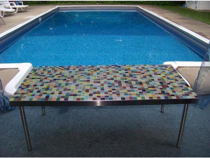Peel And Stick Backsplash Mosaic Metallic Glass Tile Hometalk