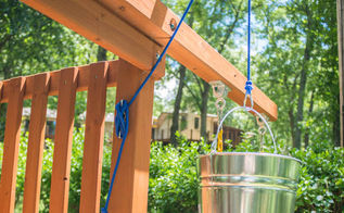 add a bucket with a pulley to an outdoor playset in a few easy steps, diy, how to, outdoor living