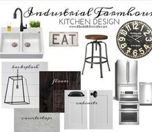 industrial farmhouse kitchen inspiration for the new house, home decor, kitchen design, Industrial Farmhouse kitchen inspiration design board for the new house