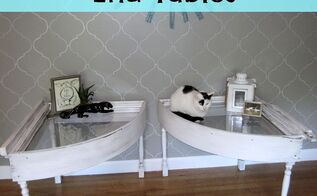 salvaged windows into end tables, diy, home decor, painted furniture, repurposing upcycling, windows