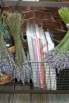growing using lavender a few craft ideas more in blog link, crafts, gardening, home decor, repurposing upcycling, Drying harvested lavender the rubber bands are best to use as they contract with the bunch as it dries