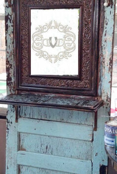 old door turned hall tree, doors, painted furniture, repurposing upcycling