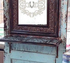 Old Door Turned Hall Tree, Doors, Painted Furniture, Repurposing Upcycling