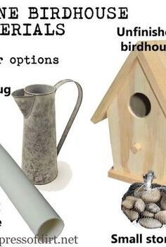 make a stone birdhouse, crafts, You could also make a stone birdhouse using a piece of wide PVC pipe or a jug as the base Use what you have and make it unique See my blog for a full material list instructions and more ideas