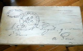 french piano bench, painted furniture, I got a graphic from The Graphic Fairy and hand painted the top Then distressed it