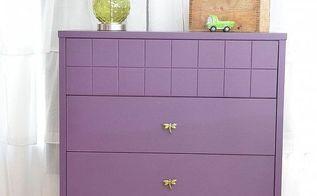 before after purple nursery dresser makeover, home decor, painted furniture, Dresser After