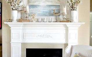 our 2013 coastal mantel, home decor, I the splashed simple coastal elements all around