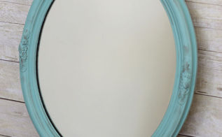 vintage mirror makeover, painted furniture, Finished Product I m in love