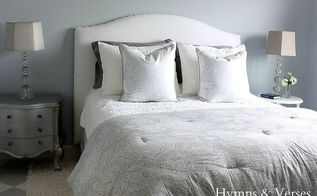 diy upholstered headboard with nail head trim, bedroom ideas, diy, home decor, how to, painted furniture, woodworking projects