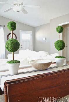diy moss topiaries, crafts, home decor, So many options and variations are available when making these DIY topiaries