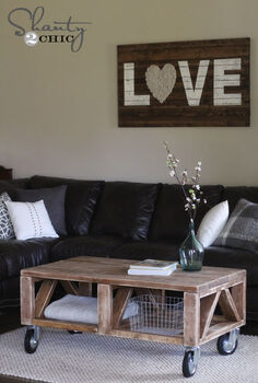 diy truss coffee table, diy, painted furniture, woodworking projects, DIY Coffee Table